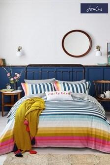 Joules Cambridge Stripe Duvet Cover and Pillowcase Set