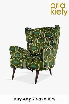 Green Orla Kiely Alma Accent Chair