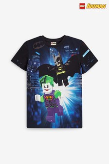 Black LEGO® Batman® Printed T-Shirt (2-12yrs)