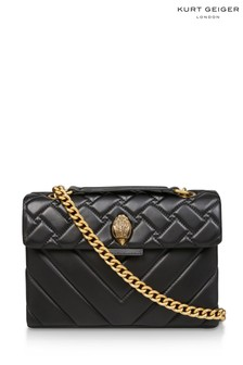 Kurt Geiger London Leather Kensington Black Day Bag