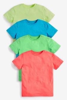 Multi 4 Pack Fluro T-Shirts (3-16yrs)