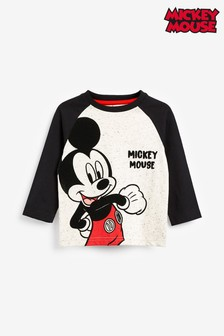 Ecru Long Sleeve Raglan Mickey Mouse™ T-Shirt (3mths-8yrs)