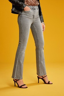 Grey High Rise Authentic Flared Jeans