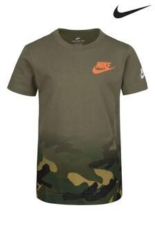 Nike Little Kids Khaki Camo Fade T-Shirt