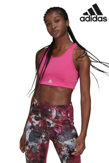 adidas D2M 3 Stripes Sports Bra