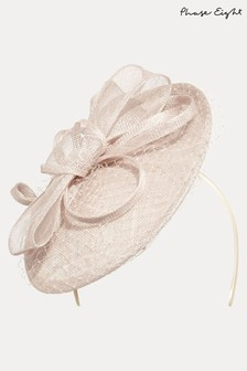 Phase Eight Cream Rihana Veiled Disc Fascinator