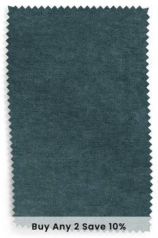 Dark Teal Fine Chenille Fabric By The Roll