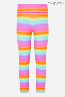 Accessorize Pink Rainbow Ombre Leggings