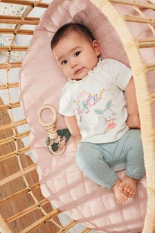Mint Sister Slogan Top And Leggings Set (0mths-3yrs)