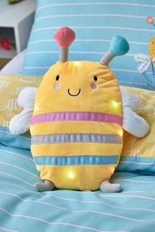 Light-Up Bee Happy Cushion