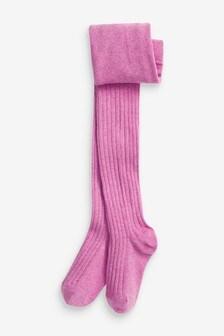 Purple Rib Tights