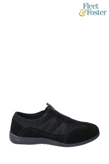 Fleet & Foster Black Mombassa Comfort Shoes
