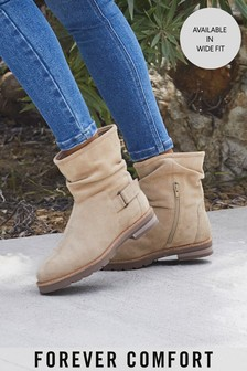 Stone Regular/Wide Fit Forever Comfort® Slouch Weekender Boots