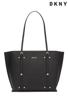 DKNY Black Bo Leather Tote Bag