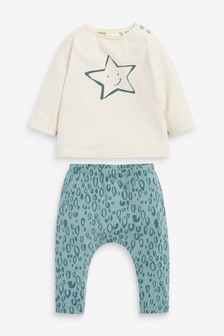 Multi GOTS Organic Star T-Shirt and Legging Set (0mths-2yrs)