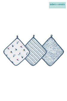 aden + anais Essentials Seashore Washcloth Set Three Pack