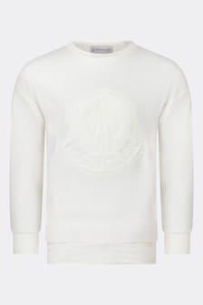Girls Ivory Cotton Sweater