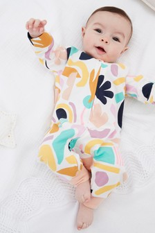 Bright Abstract Single Printed Footless Sleepsuit (0mths-3yrs)