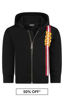 Baby Boys Black Cotton Hoody