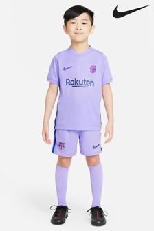 Nike Barcelona 21/22 Away Infants Football Kit