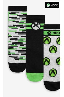 Monochrome 3 Pack Xbox Socks (Older)