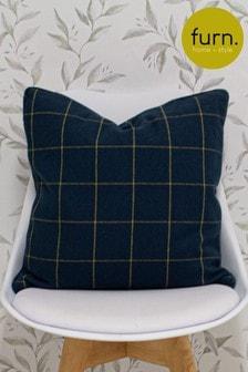 Furn Blue Ellis Woven Cushion