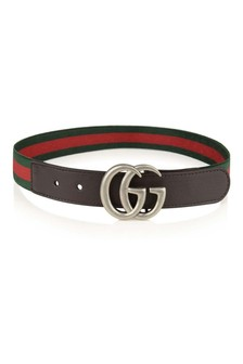 Green Green & Red Web Elasticated Belt