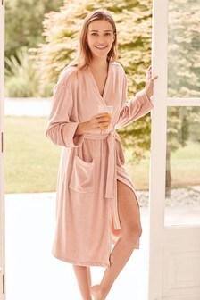 Pink Velour Robe