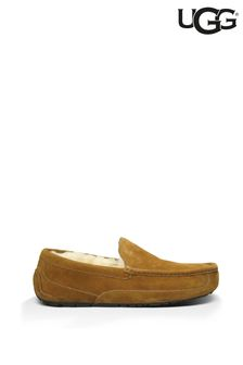 UGG® Chestnut Suede Ascot Slippers