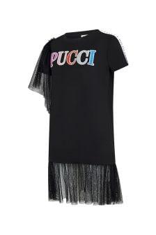Emilio Pucci Girls Black Cotton Dress