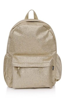 Girls Gold Glitter Backpack