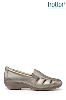 Hotter Pewter Amber Slip-On Pump Shoes