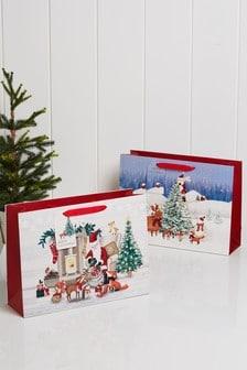 Set of 2 Christmas Gift Bags