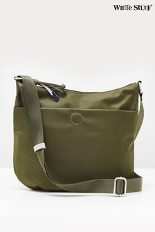 White Stuff Green Willow Nylon Cross-Body Bag