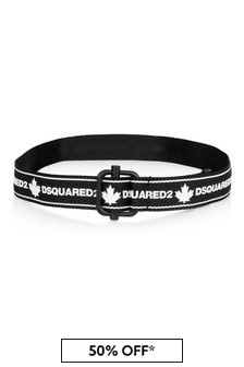 Kids Black/White Logo Belt