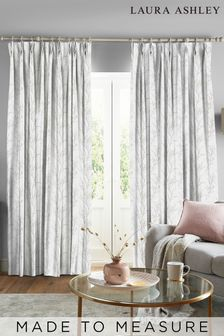 Laura Ashley Dove Grey Pussy Willow Made to Measure Curtains