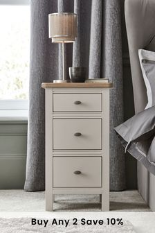 Stone Hampton 3 Drawer Bedside