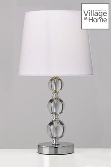 Village At Home White Orby Table Lamp