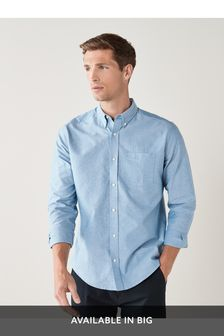 Light Blue Regular Fit Long Sleeve Oxford Shirt