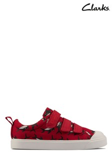 Clarks Red/Black City Vibe Canvas Shoes