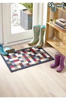 Washable And Non Slip Check Doormat by My Mat