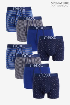 Signature Navy Pattern A-Fronts 8 Pack