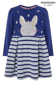 Monsoon Baby Elis Bunny Sweat Dress