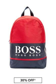 BOSS Boys Red Bag