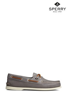 Sperry Grey Authentic Original Whisper Boat Shoes
