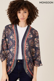 Monsoon Blue Cocoon Heritage Print Cover-Up