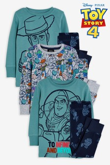 Multi 2 Pack Disney™ Toy Story Reversible Snuggle Pyjamas (9mths-8yrs)