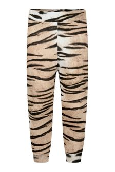 Girls Tiger Stripe Organic Cotton Joggers