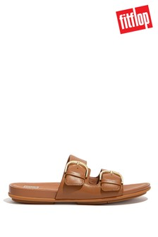 FitFlop Tan Graccie Buckle Slides