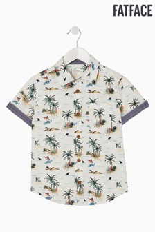 FatFace Natural Resort Print Shirt